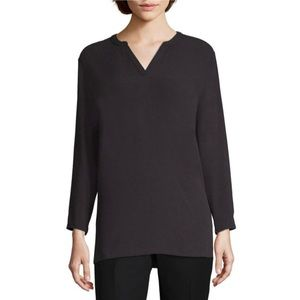 NWT Liz Claiborne L/S Split Crew Neck Tunic Top